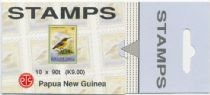 PNG SGSB9a 9k. Booklet (SG 686) Small Birds, slotted tab